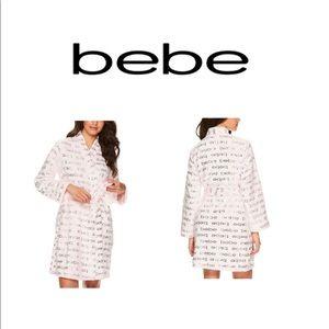 Bebe Soft Light Pink Logo Robe